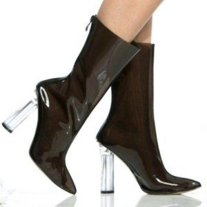 Cape Robbin Clear Booties Size 6.5